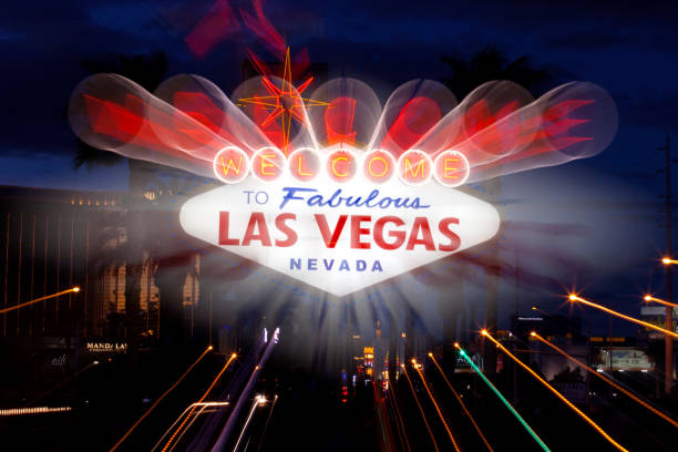 Famous Welcome to Las Vegas sign stock photo