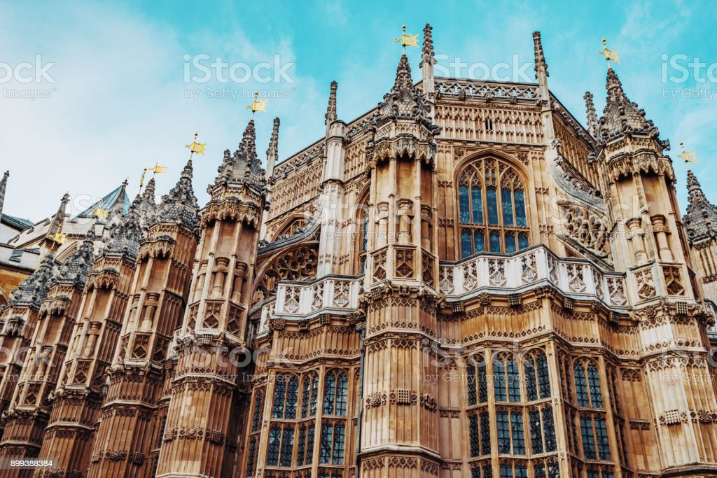 Famous Westminster Abbey in London stock photo