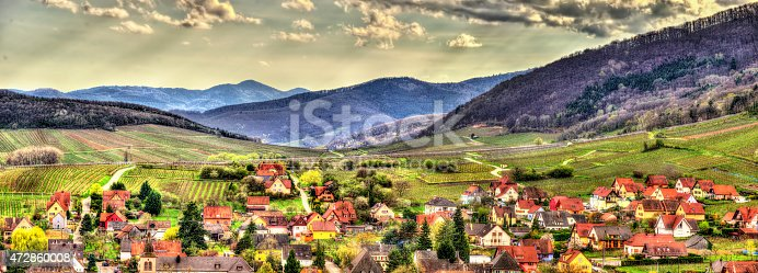 925850210 istock photo Famous wine route in the Vosges mountains - Alsace, France 472860008