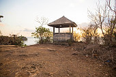 Famous wooden pavilion located on the cliff in Balangan