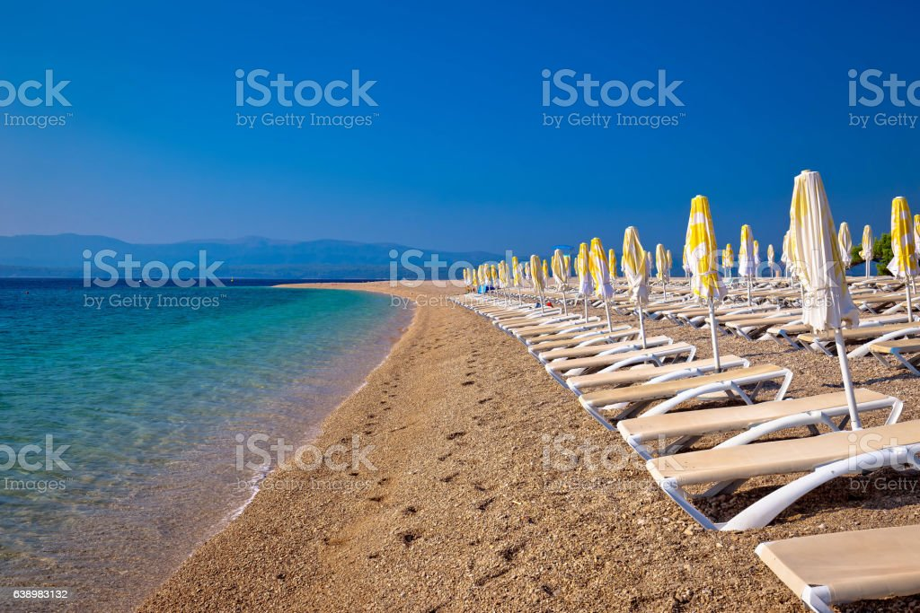 Famous Zlatni Rat beach on Brac – Foto