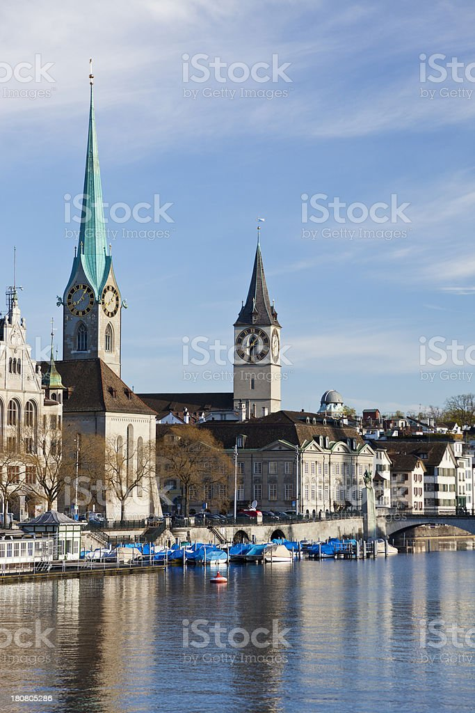 Famous Zurich Sights stock photo