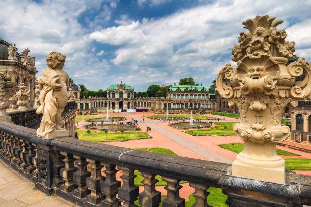 Famous Zwinger palace (Der Dresdner Zwinger) Art Gallery of Dresden, Saxony, Germany Dresden, Germany - 6 July, 2017: Famous Zwinger palace (Der Dresdner Zwinger) Art Gallery of Dresden, Saxony, Germany zwanger stock pictures, royalty-free photos & images
