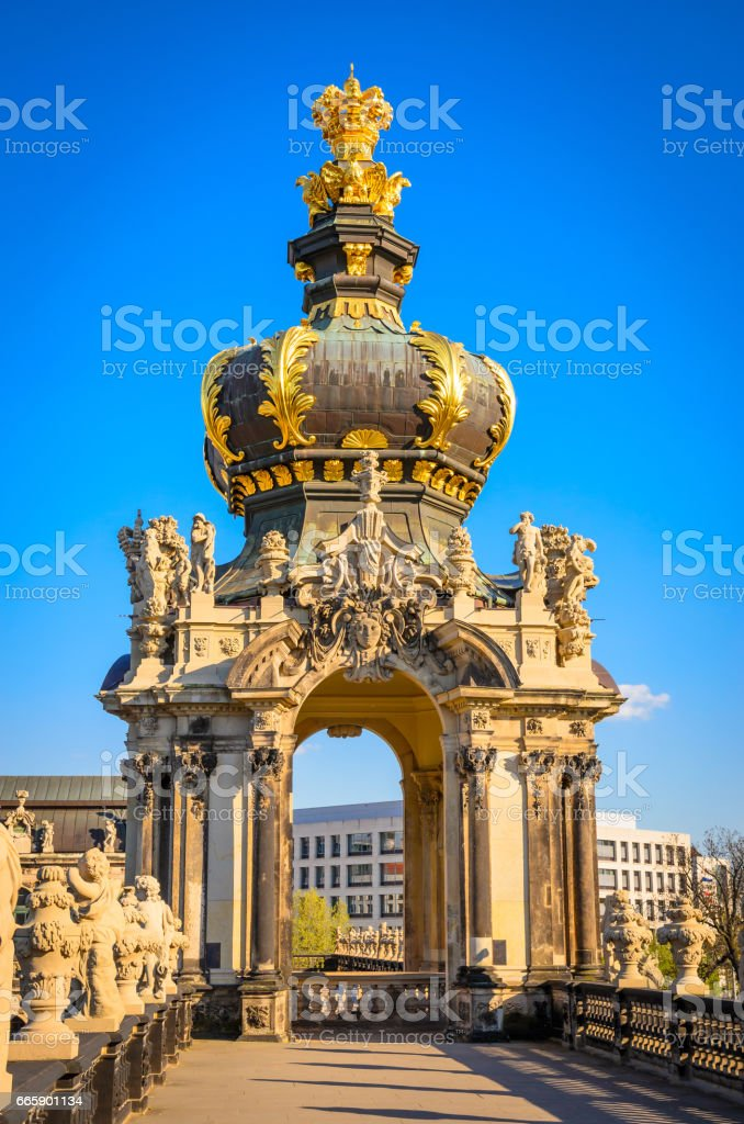 Famous Zwinger palace in Dresden, Saxrony, Germany foto stock royalty-free