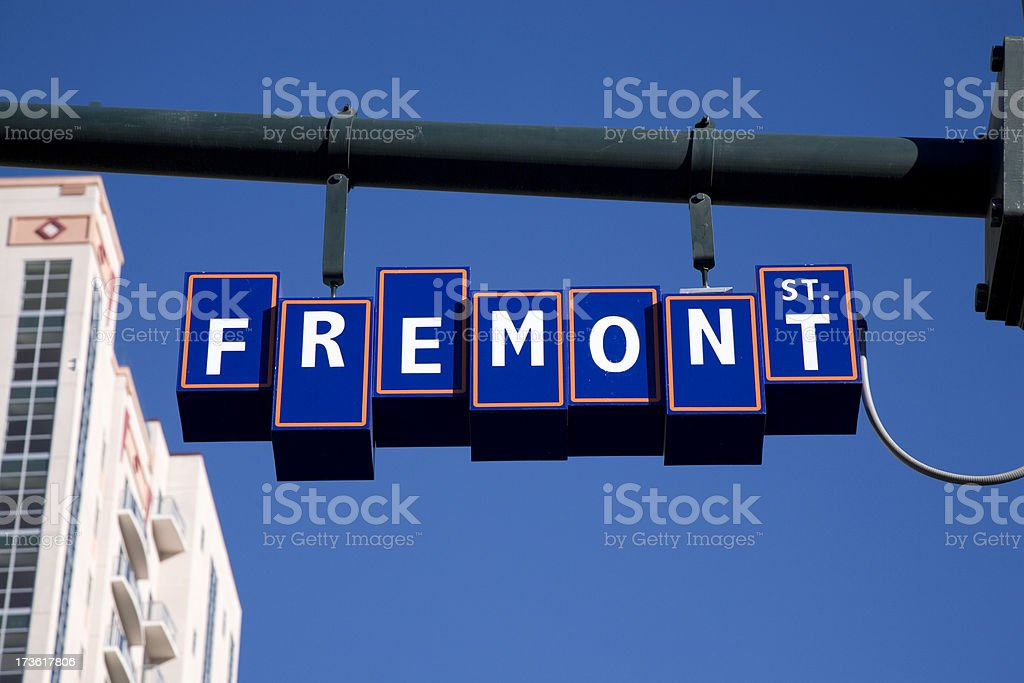 Famouse Fremont Street stock photo