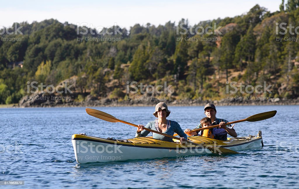 Famyli Paddling stock photo