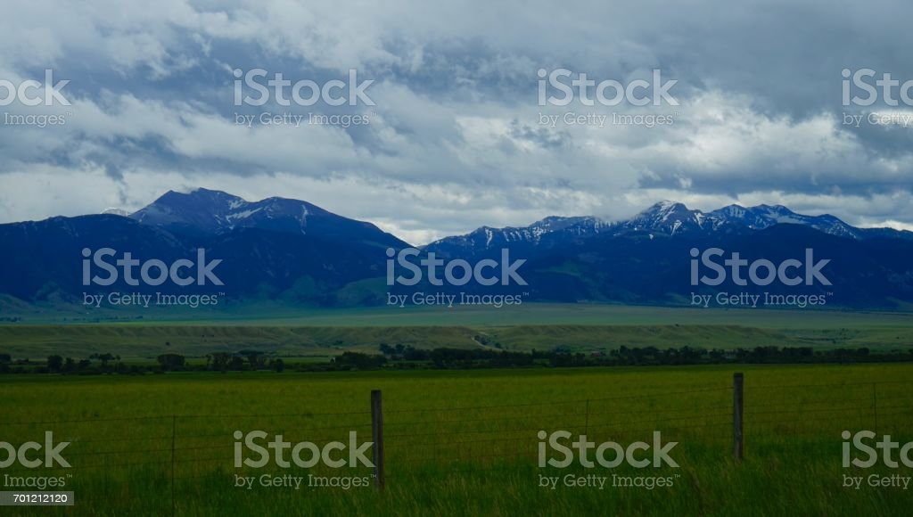 Fan and Cedar Mountains stock photo