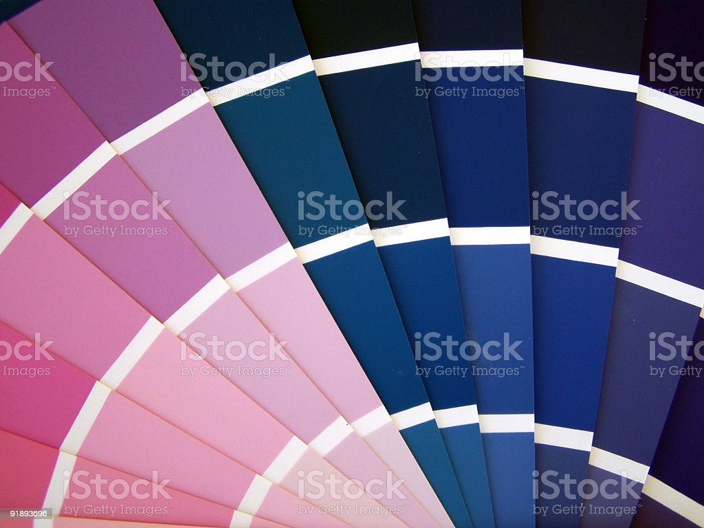 Fan color guide royalty-free stock photo