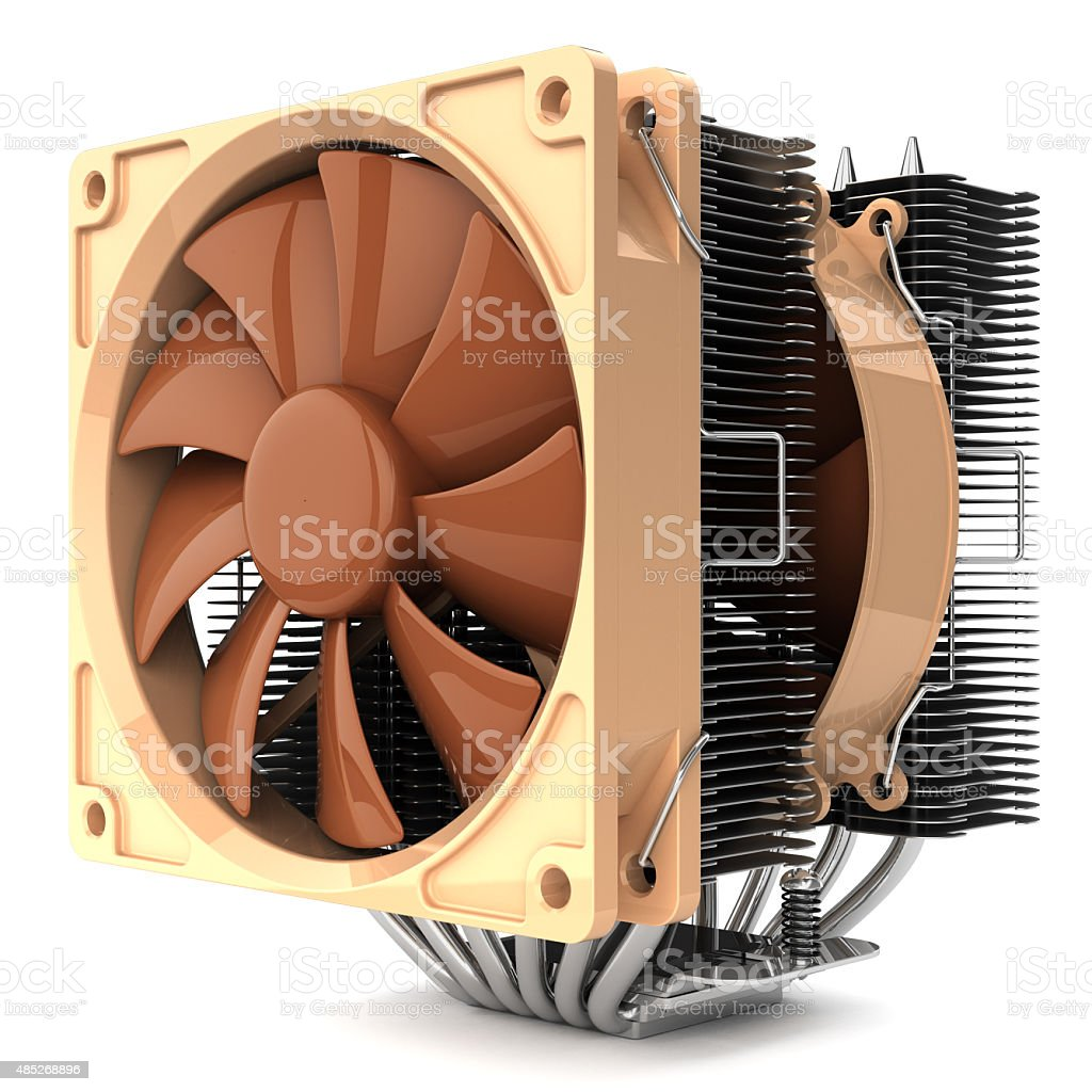 CPU fan cooler for PC stock photo