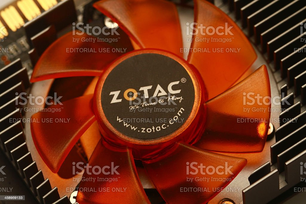 fan cooler, graphics card stock photo