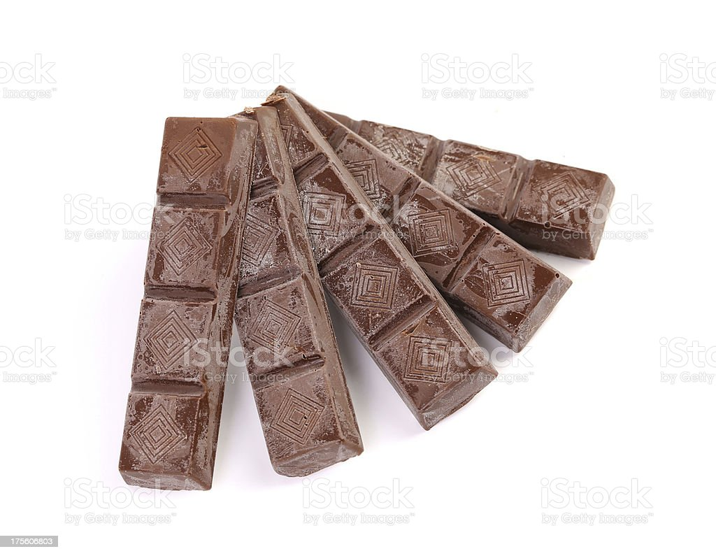 Fan of chocolate bars. royalty-free stock photo