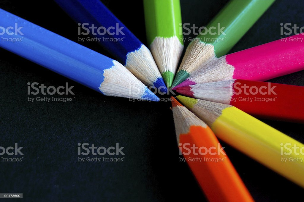 fan of colour royalty-free stock photo