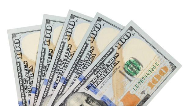 fan von dollarnoten - nummer 100 stock-fotos und bilder
