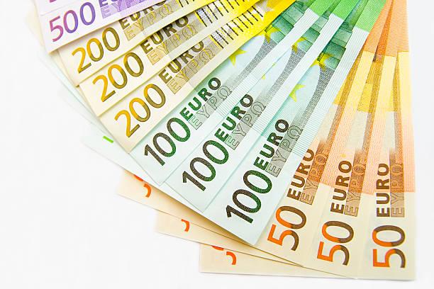 Ventilador de billetes - foto de stock