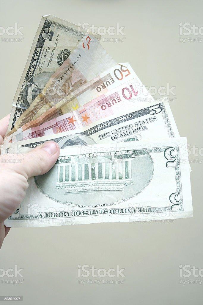 Fan of money royalty-free stock photo