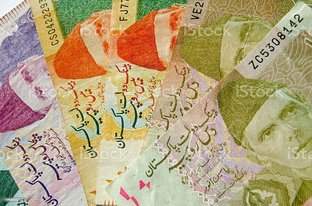 Fan of Pakistan Rupees stock photo