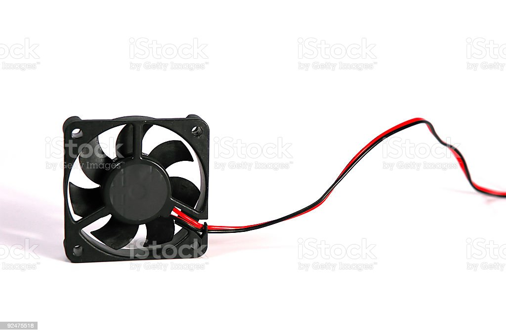 CPU fan, out of the box royalty-free stock photo