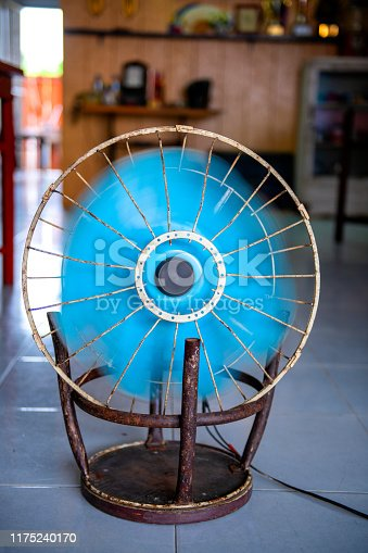 istock fan that is adapted to the steel chair 1175240170