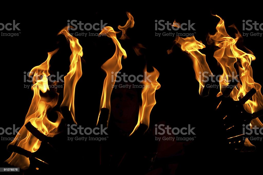 Fan The Flames royalty-free stock photo