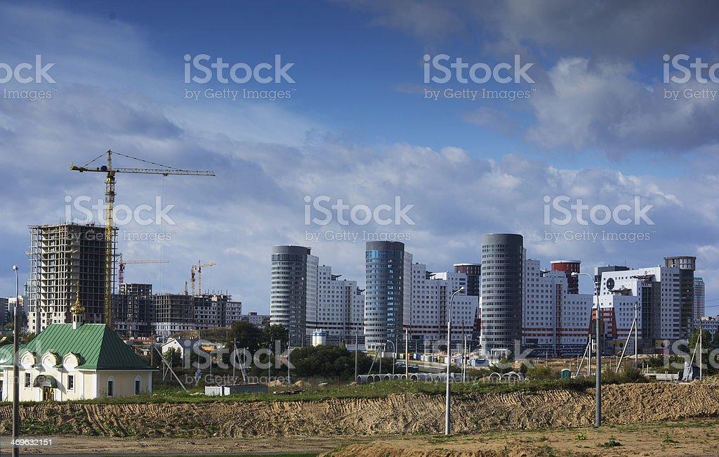 Fan village, Minsk stock photo
