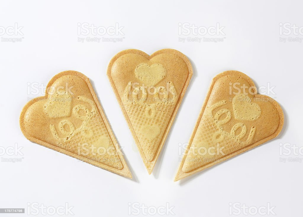 Fan wafer biscuits royalty-free stock photo