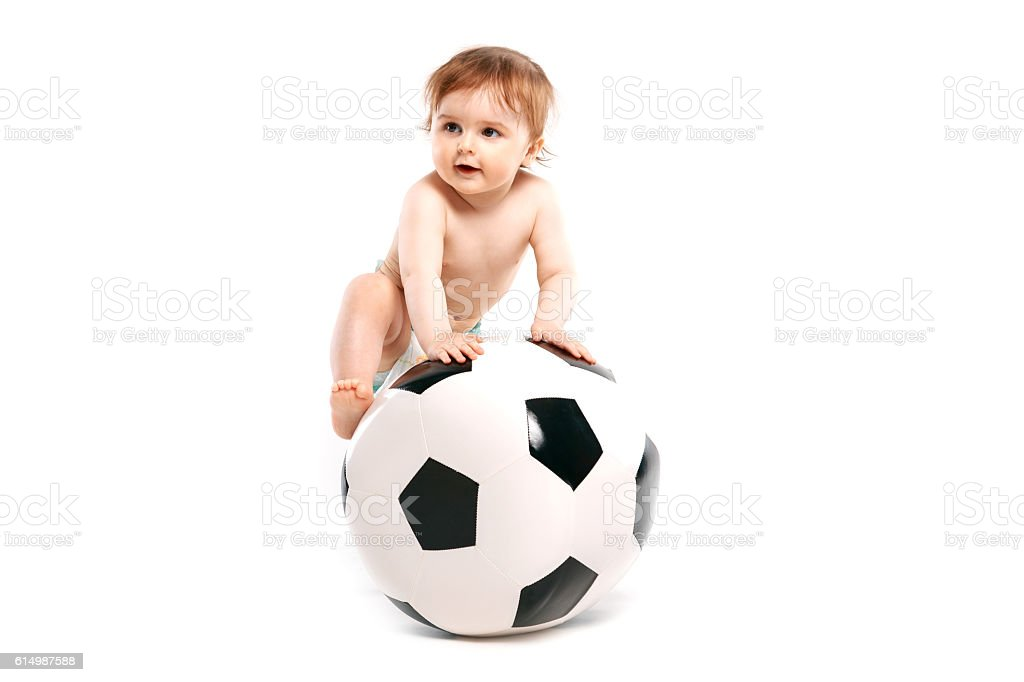 fan with a soccer ball - foto de stock