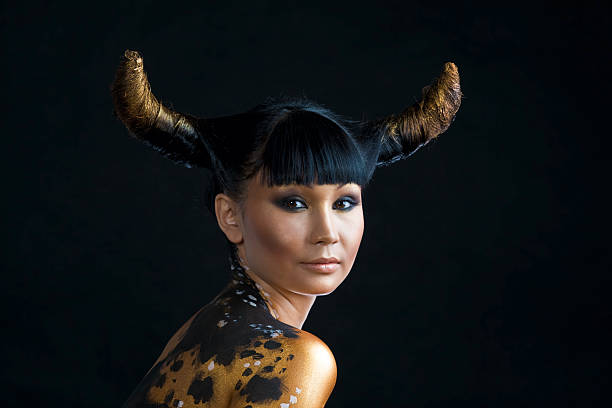 Image result for woman with bull horns