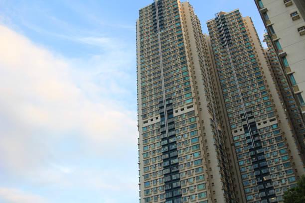 香港的花式公寓樓圖像檔
