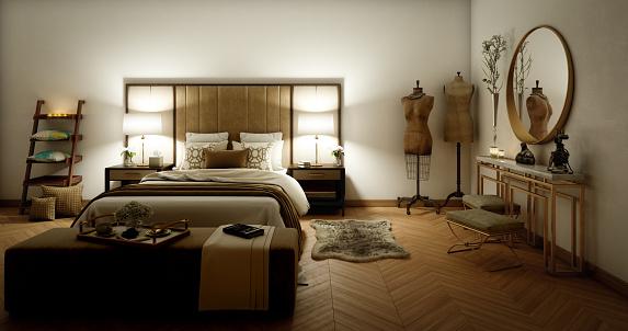 Fancy Bedroom Interior Stock Photo Download Image Now Istock