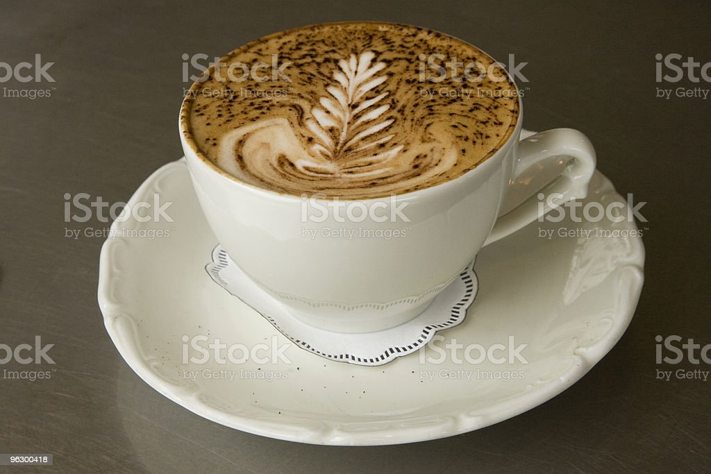 Fancy Cappuccino, Coffee, Espresso, Latte Art, Hot Beverage, European royalty-free stock photo