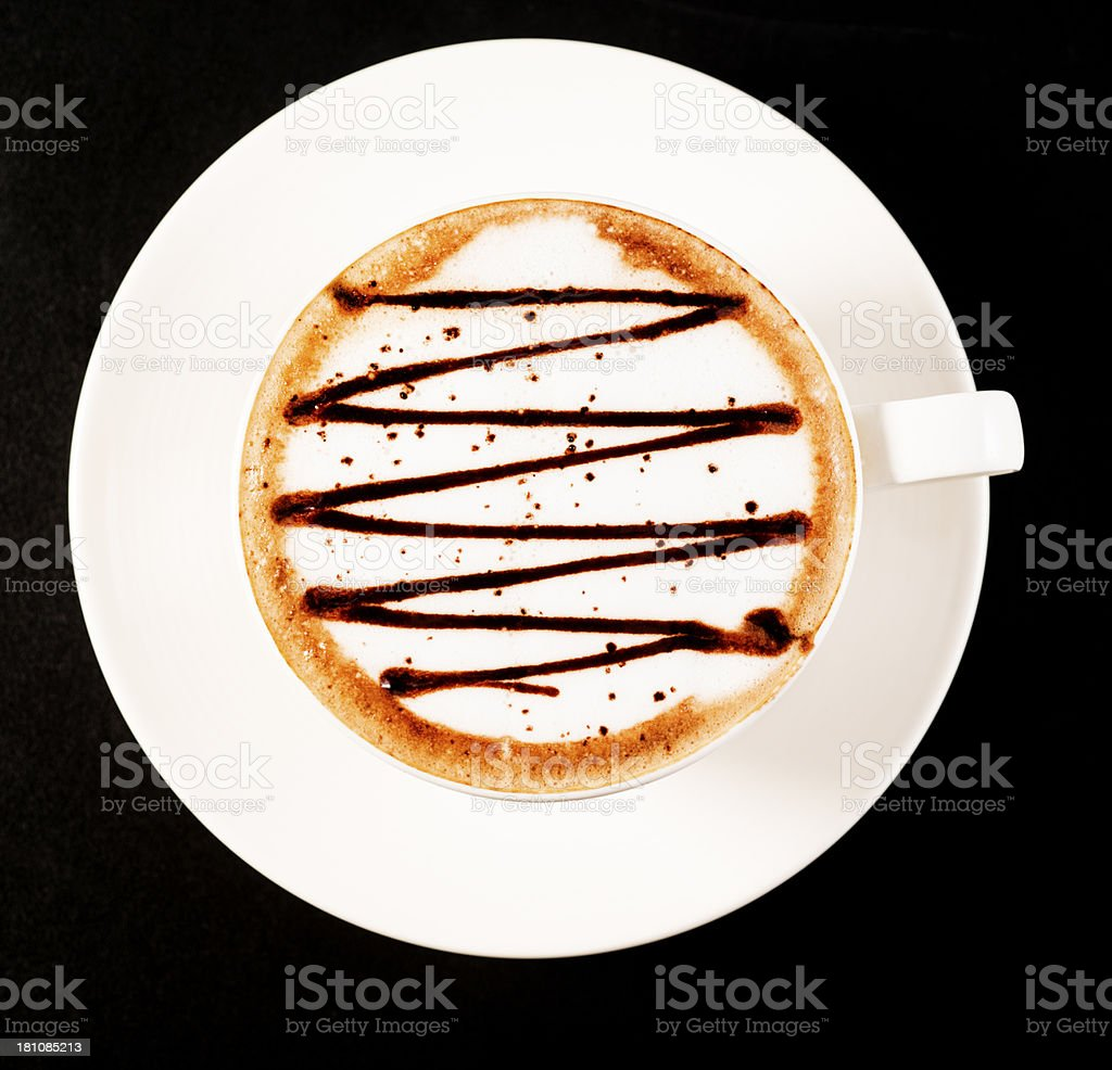 Fancy Cappuccino royalty-free stock photo