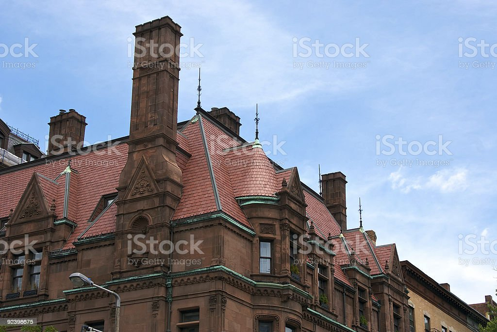 fancy chimney stock photo