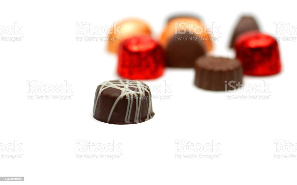 Fancy chocolates royalty-free stock photo