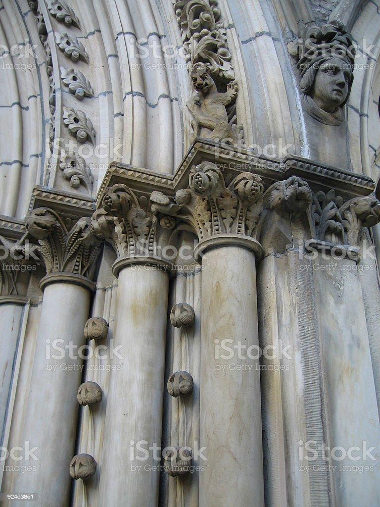 Fancy columns stock image