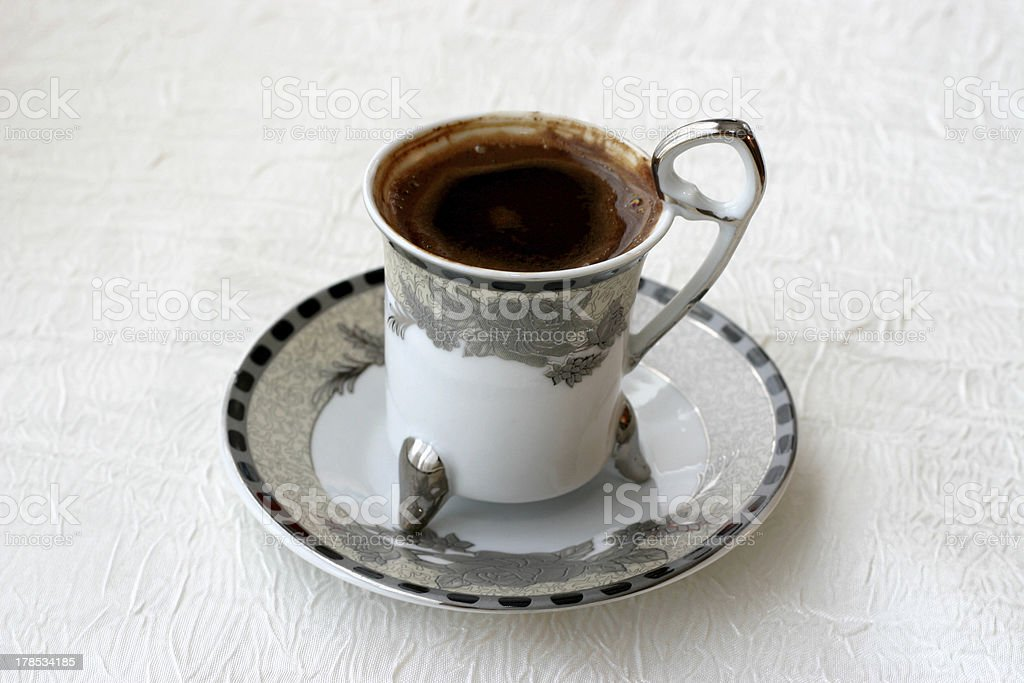 Fancy Cup of Turkish Coffee royalty-free stock photo