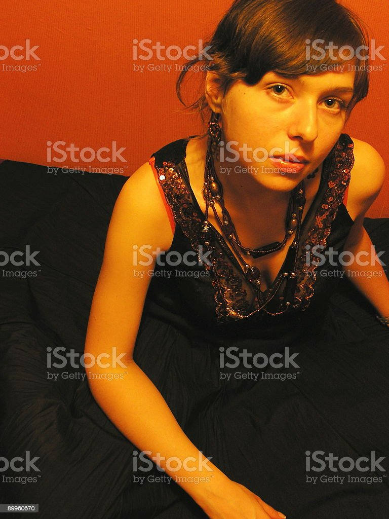 Fancy dressed girl royalty-free stock photo