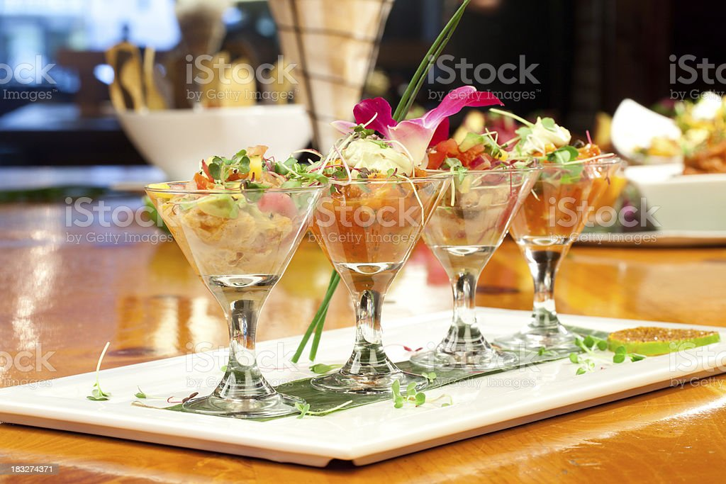 Fancy fish tartare meal royalty-free stock photo