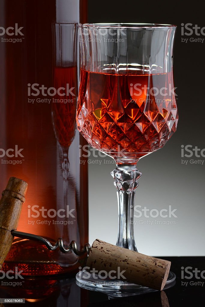 Fancy Glass of Red Wine stock photo