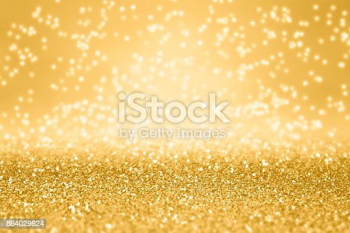 istock Fancy Gold Glitter Sparkle Background For Anniversary, Christmas or Birthday 864029624