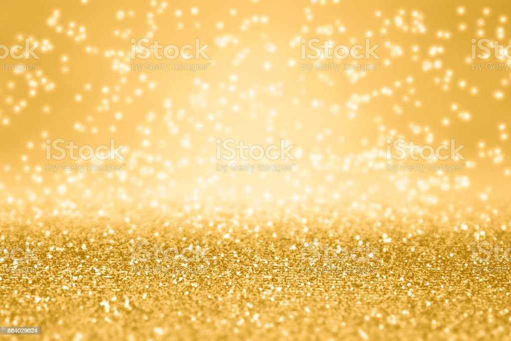Fancy Gold Glitter Sparkle Background For Anniversary, Christmas or Birthday stock photo