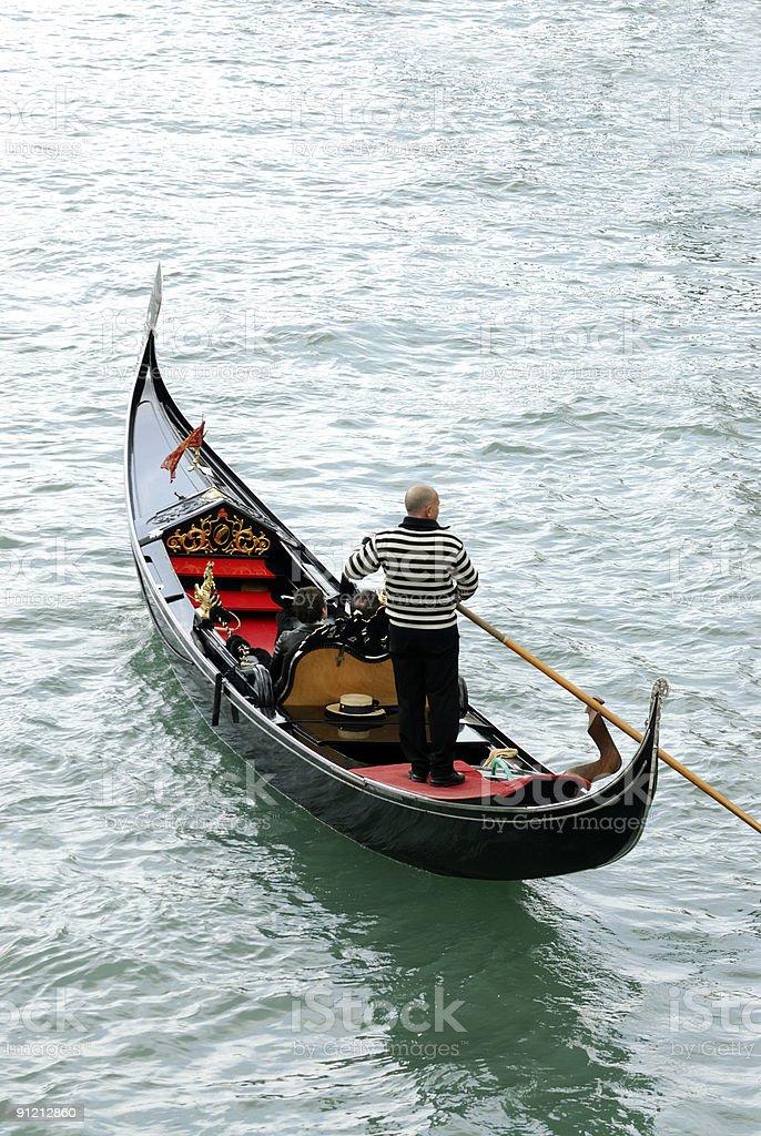 Fancy gondola, Venice Italy stock photo