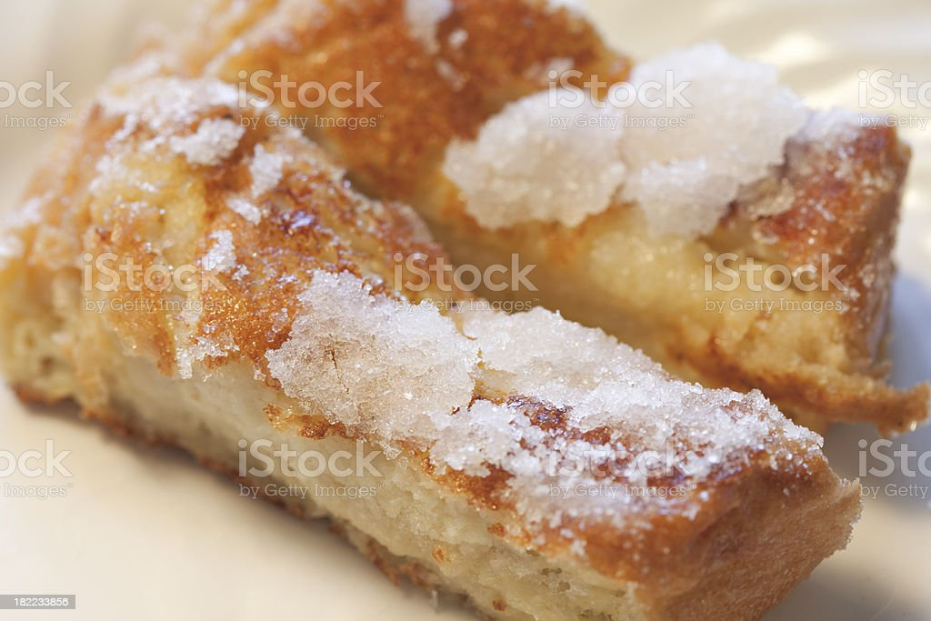fancy gourmet glazed french toast on plate royalty-free stock photo