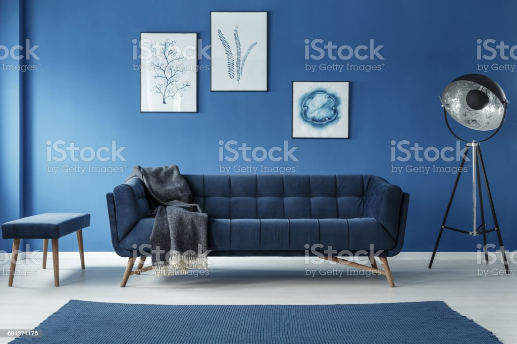 Fancy grey lamp stock photo