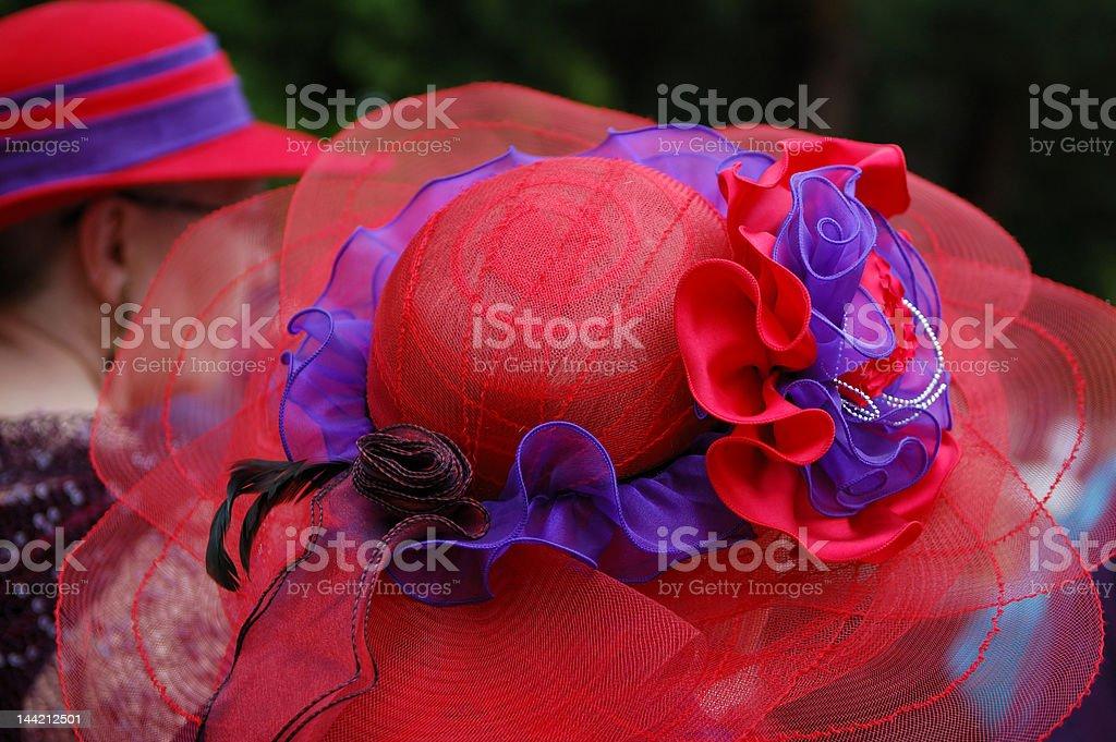 fancy hat stock photo