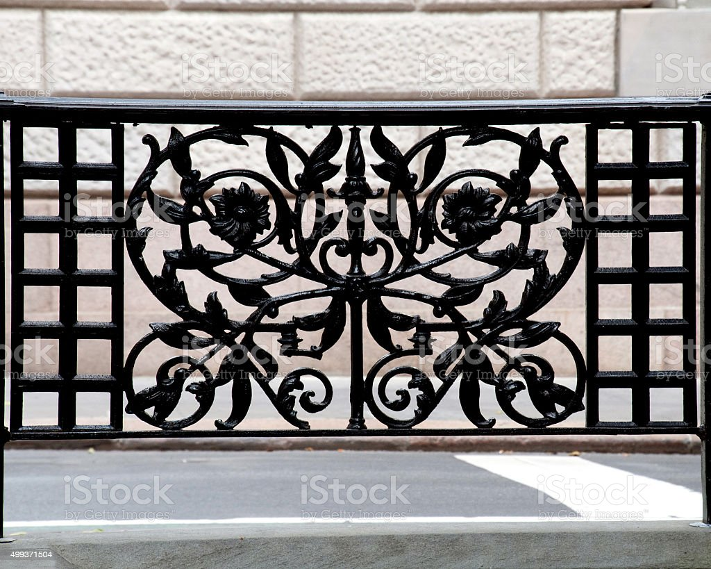 fancy ironwork stock photo