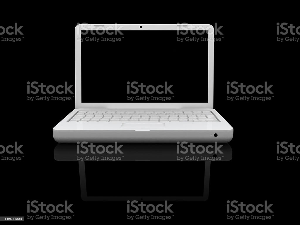 Fancy Laptop isolated - Clipping Path royalty-free stock photo