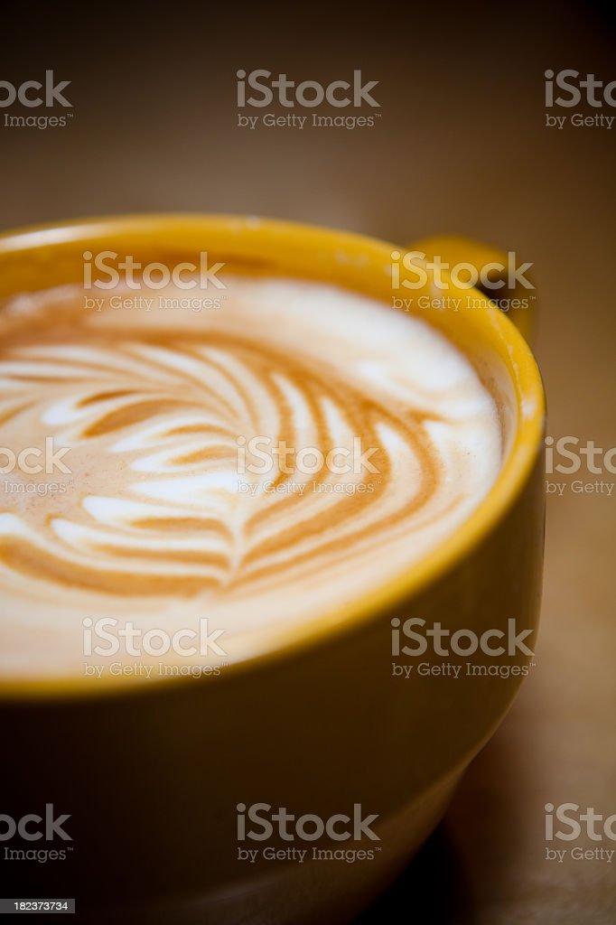 Fancy Latte Art royalty-free stock photo