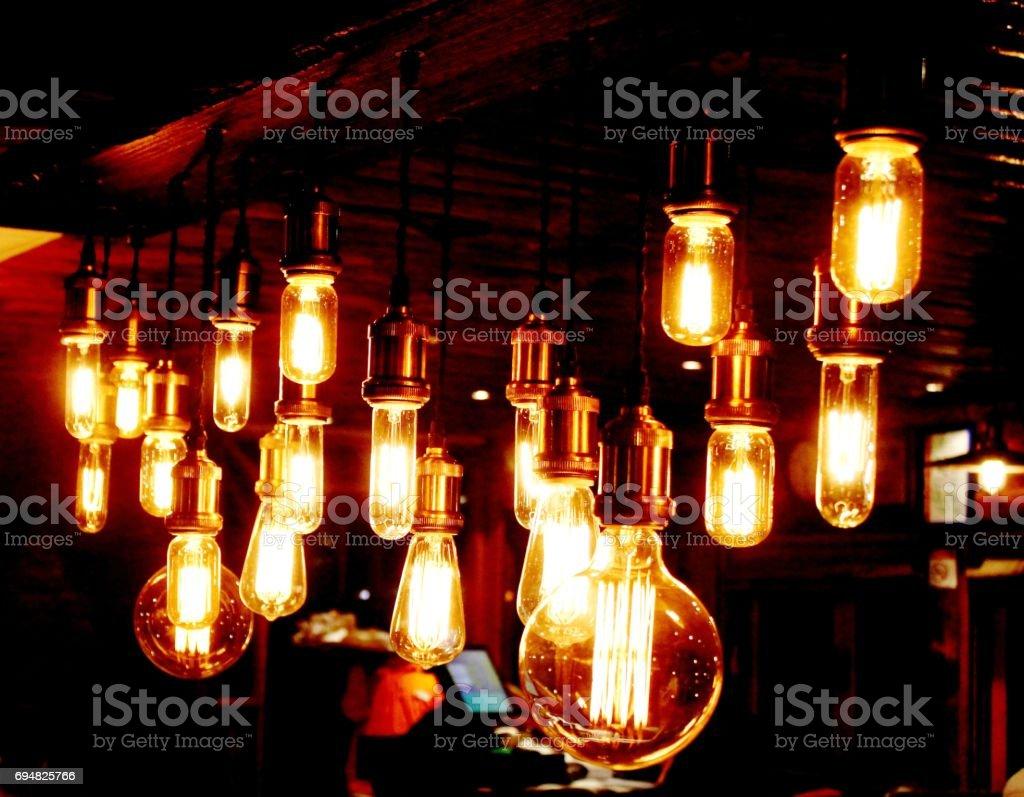 Ausgefallene Gluhbirnen Leuchten Gelb Stock Fotografie Und Mehr
