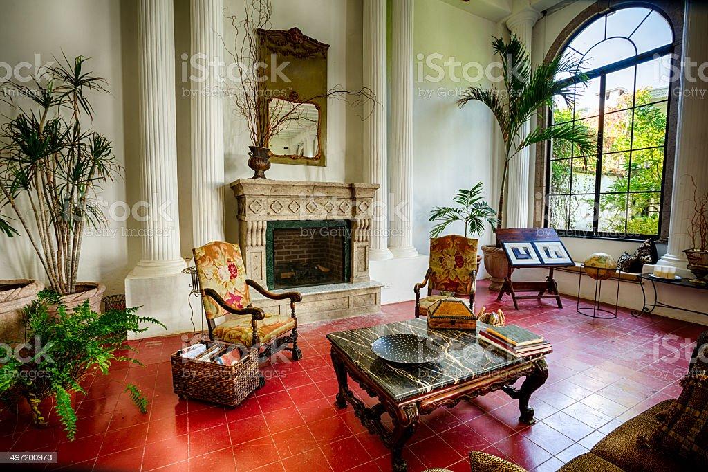 Fancy Living Room stock photo