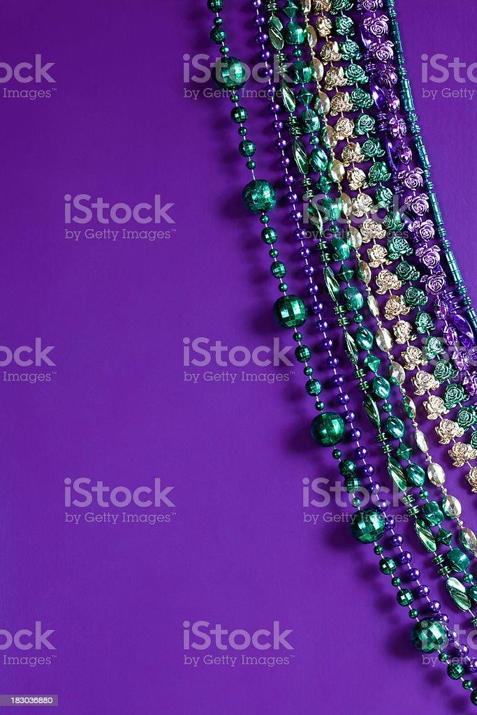 Fancy Mardi Gras Beads royalty-free stock photo